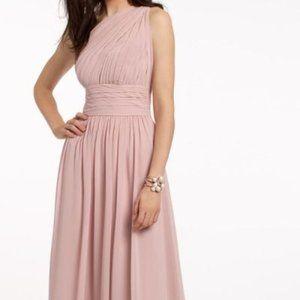One Shoulder Illusion Bridesmaid Dress